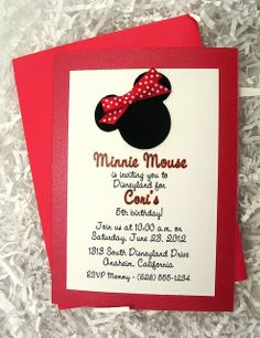 Minnie Mouse Invitations  Cricut Disney And Other Characters