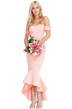 BARDOT FISHTAIL DRESS