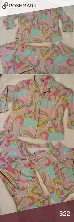 Beautiful Paisley Pajamas Set Pine Cone Hill pajamas. These are very nice in excellent condition. Top and pants. 100 % cotton   Any questions please feel free to ask. Happy Poshing! Pine Cone Hill Intimates & Sleepwear Pajamas