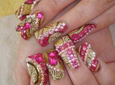 Inspiring Acrylic Nail Designs Ideas - bmodish.com - #BeModish #nailart #naildesign