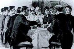"""La mayoría de las personas nacían en una clase y nunca cambiaban; si lo hacían, sólo se movían un grado: la clase media alta a alta, o la clase trabajadora a clase media baja, por ejemplo. A las mujeres se les asignaba la clase de sus maridos, por lo que eran criticadas si se casaban """"por debajo de su nivel""""."""