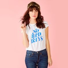 no bad days tee - white from ban.do