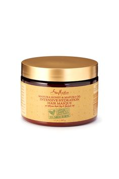 Sheamoisture Manuka Honey & Mafura Oil Intensive Hydration Masque. Oh my goodness!!! This stuff is fantastic!! My curls were gorgeous after an hour treatment with this! I believe I found myself a new deep conditioner! xoxo!