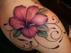 Hibiscus Tattoo Designs tattoos for your new tattoo today the development of tattoo design is 3d Flower Tattoos, Hawaiian Flower Tattoos, Hibiscus Flower Tattoos, Beautiful Flower Tattoos, Flower Tattoo Designs, Colorful Flower Tattoo, Hawaiian Flowers, Tropical Flowers, Body Art Tattoos