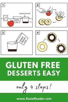 Looking for gluten free desserts easy? This apple treat looks like a DOUGHNUT!! YUM!! Easy Gluten Free Desserts, Gluten Free Snacks, Easy Desserts, Celiac Disease In Children, Activities For 5 Year Olds, Reading Adventure, Adhd Kids, Kids Reading, Melting Chocolate