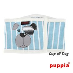 "Bandeau anti pipi ""Boomer"" blue Puppia https://www.cupofdog.fr/accessoire-soin-chihuahua-petit-chien-xsl-245.html"