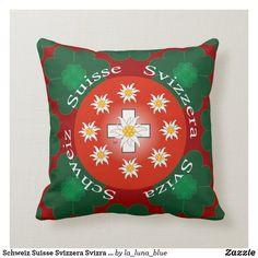 Schweiz Suisse Svizzera Svizra Switzerland Kissen Throw Pillows, Swiss Guard, Toss Pillows, Decorative Pillows, Decor Pillows, Scatter Cushions