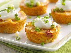 Cheesy Au Gratin Potato Cupcakes