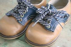 So cute! Vintage Saddle Shoes for Baby Boy
