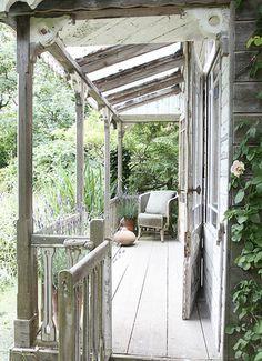 rustic cabin porch