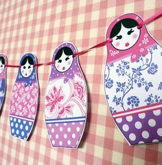 Russian Doll Buntingmatryoshka bunting