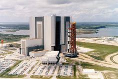 An aerial view of the Apollo 11 rollout from the Vehicle Assembly Building to the launch complex. May (Source: NASA): Moon, Nasa, Apollo Cape, Rocket, Space Apollo 11 Mission, Apollo Missions, Apollo Space Program, American Space, Cape Canaveral, Kennedy Space Center, Space Race, Man On The Moon, Space Photos