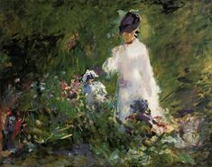 Edouard Manet Young woman among the flowers, 1879