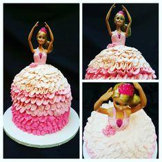 Barbie Cake for a birthday. Lynne I. C.C.