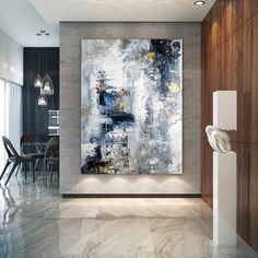 Large Abstract PaintingModern abstract paintingoil hand paintingoffice wall a Large Abstract Wall Art, Large Canvas Art, Large Painting, Abstract Oil, Figure Painting, Wall Canvas, Art Texture, Texture Painting, White Texture