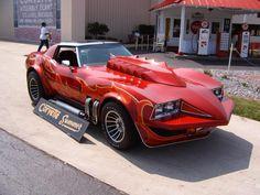 The 1973 Corvette Stingray from Corvette Summer starring Mark Hamill. Chevrolet Corvette, Chevy, Classic Hot Rod, Classic Cars, Classic Auto, Gta, Corvette Summer, Classic Corvette, Little Red Corvette