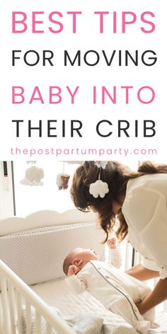 Transitioning Your Baby To A Crib: How To Do It & When - When should you transition your baby to a crib? Get tips from going to a rock and play or co-sleeping with your baby to putting them in their crib to sleep for the night. Toddler Sleep, Baby Sleep, Toddler Girls, Rock And Play, Baby Cribs, Baby In Crib, Baby Boys, Carters Baby, Baby Care Tips