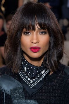 For Ciara's rocker-chic red lips, skip the brush and dab on with your finger to keep the color diffused at the edges, like you've been living in it for a few hours. (Try it with NARS Velvet Matte Lip Pencil in Cruella.)