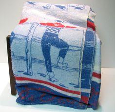Vintage Cowboy Camp Blanket with Cowboys No.2 by VintageCreekside, $45.00