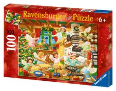 ravensburger, christmas jigsaw puzzles | Ravensburger Angelic Bakery - 100 Pieces Christmas Puzzle image 1