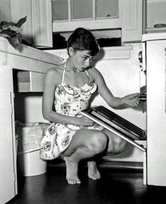Audrey baking :)