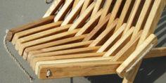 Wooden Nordeck garden chair - detail