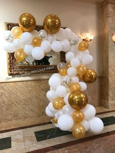 gold and white organic arch to surround rosette backdrop Balloon Decorations Party, Balloon Garland, Birthday Decorations, Princess Theme, Princess Birthday, Rose Gold Sequin Dress, Christmas Balloons, Balloon Installation, Green Theme