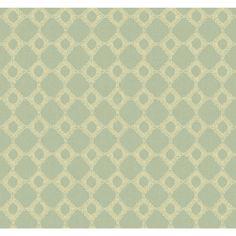 """Williamsburg II 27' x 27"""" Keswick Ribbon Texture Wallpaper"""