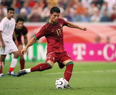 Portugal 2 Iran 0 in 2006 in Frankfurt. Cristiano Ronaldo scores a penalty in the minute to make it in Group D at the World Cup Finals. 2006 World Cup Final, Cristiano Ronaldo, Frankfurt, Scores, Iran, Finals, Portugal, Group, Final Exams