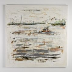 Sarah Robertson Floating Mississippi River At Memphis Painting