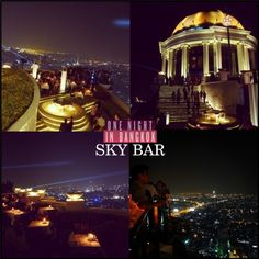 Skybar at flrs up with a true Open Air and views down t o the river or across the ckyline back to the city . they say its the stairway to heavan Rooftop Bangkok, One Night In Bangkok, Sky Bar, Rooftops, Stairways, First Night, Tourism, River, City