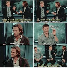 Only to the Supernatural Fandom does this not sound concerning. - Only to the Supernatural Fandom does this not sound concerning. Jensen Ackles, Jared And Jensen, Supernatural Fans, Destiel, Johnlock, Jared Padalecki, Misha Collins, Dean Winchester, And So It Begins
