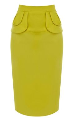 Yellow Midi Pencil Skirt -- When feeling a little gutsy ;-) Read More