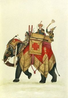 Akbar II mounted on an elephant (Print On Demand)