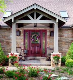 20 Great Front Porch Addition Ranch Remodeling Ideas https://www.onechitecture.com/2017/10/29/20-great-front-porch-addition-ranch-remodeling-ideas/