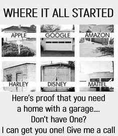 So many companies with garage startups, mind blowing! I can help with the garage, you provide the amazing startup idea! Dallas Real Estate, Luxury Real Estate, Apartment Locator, Quad Cities, Me App, Real Estate Marketing, Billboard, Like4like, Outdoor