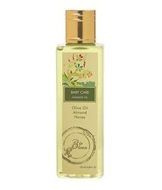http://healthykya.com/baby-massage-oil100ml-2 This baby massage oil is a blend of sweet almond oil rich in vitamin E and olive oil & organic vegetable oil to nourish the child's skin. Honey makes the skin smooth and soft