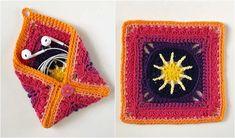 Credit: Your Crochet: Granny Square Pouch or Coin Purse Free Crochet Pattern Tunisian Crochet, Easy Crochet, Crochet Stitches, Crochet Hooks, Free Crochet, Crochet Patterns, Afghan Crochet, Crochet Ideas, Crochet Coin Purse
