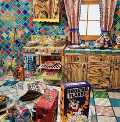 Liza Lou, Kitchen, 1991-96, glass beads, wood, wire, plaster, artist's used appliances, 168 sq. ft.