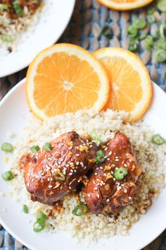 Slow Cooker Sesame Orange Chicken | http://wickedspatula.com