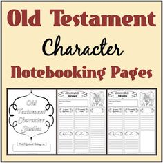 Free Old & New Testament Character Study Notebooking Pages