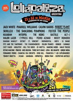 Lollapalooza Argentina 2015 - Line Up Oficial