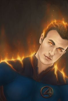 Just wanna say one thing: flame~ on~  Fantastic Four - Flame On! by Kumagorochan.deviantart.com on @deviantART