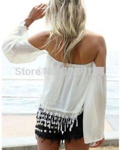 Aliexpress.com: (4,57€) Comprar Nuevas mujer manga larga Vintage Sheer Tops camisa de encaje blusa de la gasa de blusa de seda fiable proveedores en sha dow's store
