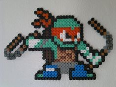 Teenage Mutant Ninja Turtle - Michelangelo perler beads by Björn Börjesson