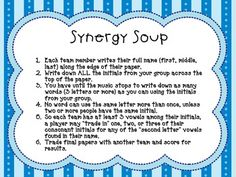 SYNERGY SOUP GAME {LEADER IN ME GAME} - TeachersPayTeachers.com