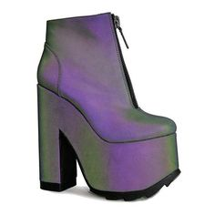 NIGHTMARE REFLECTIVE (7.715 RUB) ❤ liked on Polyvore featuring shoes and platform shoes