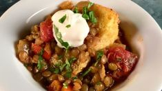 Mexican Lentil Soup with Skillet Cornbread Recipe | The Chew - ABC.com