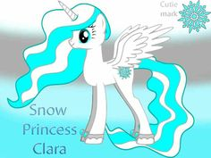 This is princess Clara. She is in charge of snow days. She tells princess waterdrop when the seahorses have to go south.