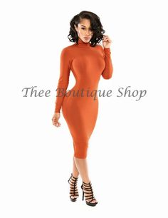 The Classic Fall Body-Con Dress (Desert Orange)